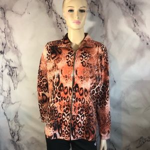 EXCLUSIVELY MISOOK Animal Print Jacket Clear  m.